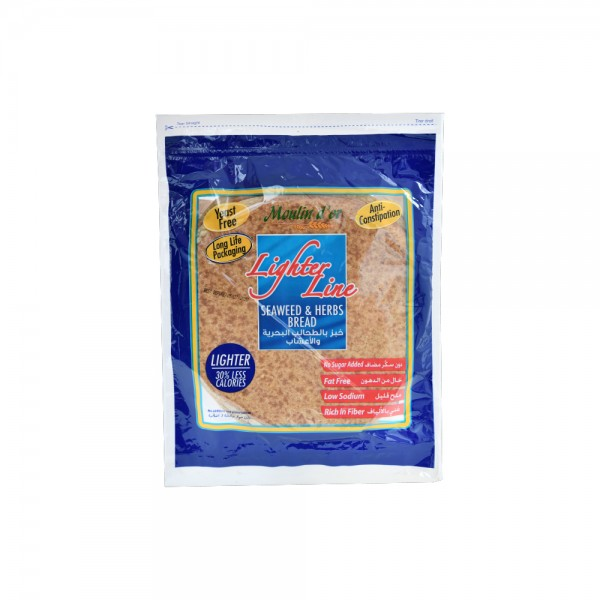 Moulin D'Or Pain Arabe Seaweed 270g 393642-V001 by Moulin d'Or