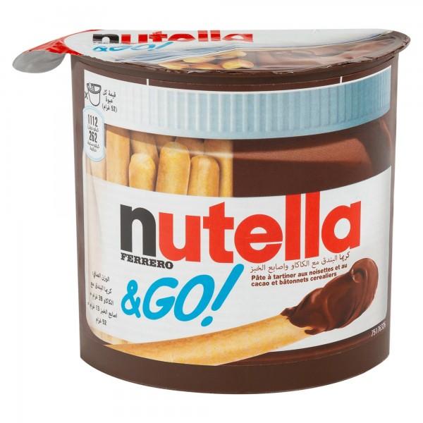 Nutella Frerro & Go With Breadsticks 52G 394698-V001 by Ferrero