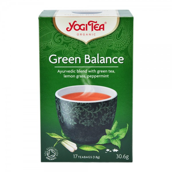 Yogi Green Balance Organic Tea 17 Bags 400741-V001 by Yogi Tea