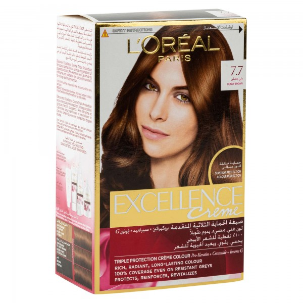 L'Oreal Paris Excellence Coloration Honey Brown 7.7 1Pc 402667-V001 by L'oreal