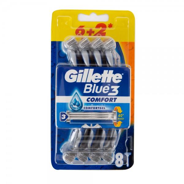 Gillette Blue3 Plus Disposable Razors 6+2 Pieces 416532-V001 by Gillette