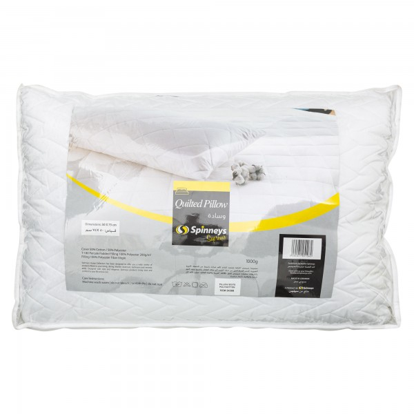 Spinneys Quilted Pillow 50X75 1000G 417203-V001 by Spinneys Home