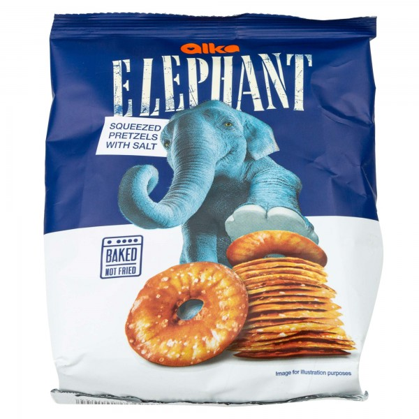 Elephant Squeezed Pretzels With Salt 80G 420655-V001 by Elephant