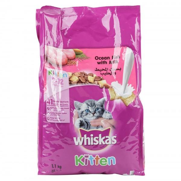 Whiskas Kitten (2-12Months) Ocean Fish With Milk 1.1Kg 422221-V001 by Whiskas