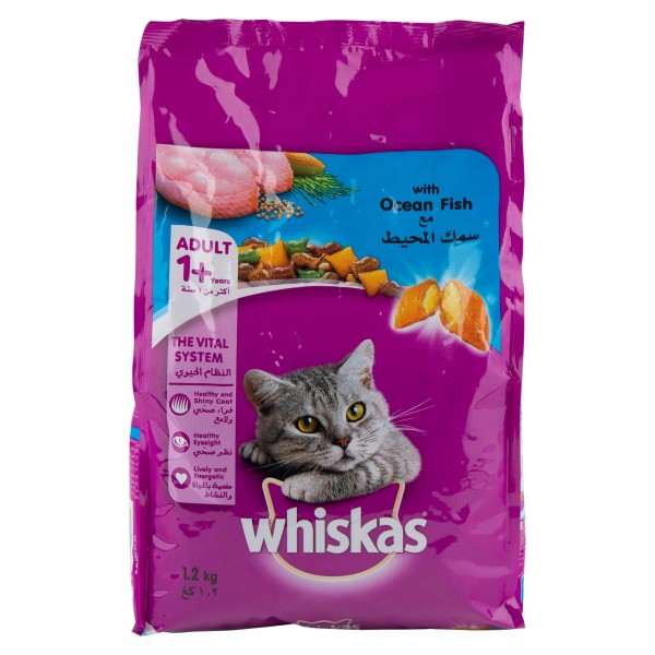 Whiskas Adult 1+  The Vital System With Ocean Fish 1.2Kg 422222-V001 by Whiskas