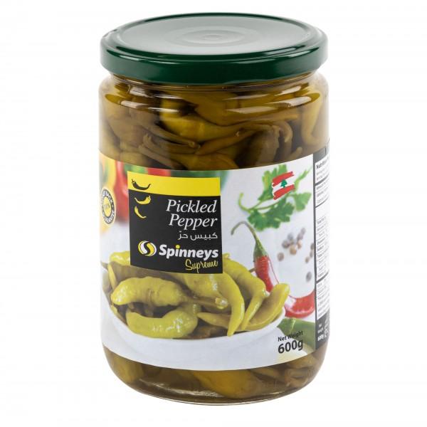 Spinneys Pickled Hot Peppers 600G 426339-V001 by Spinneys Supreme