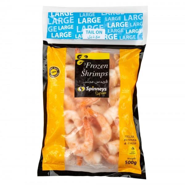 Spinneys Large Shrimp 31/40 P+D Tail On 426484-V001 by Spinneys Food