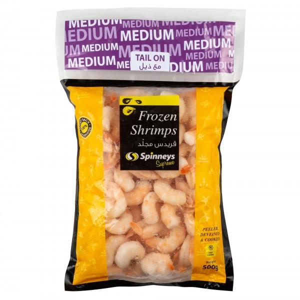 Spinneys Med Shrimps 61/70 P+D Tail On 426485-V001 by Spinneys Food