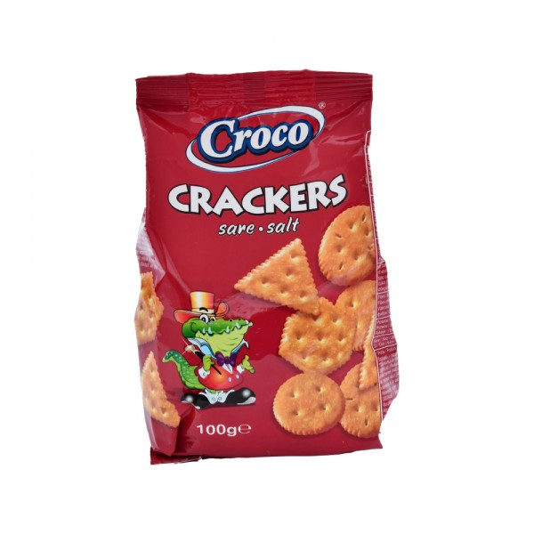 Croco Crackers Salted - 100G 428302-V001 by Croco