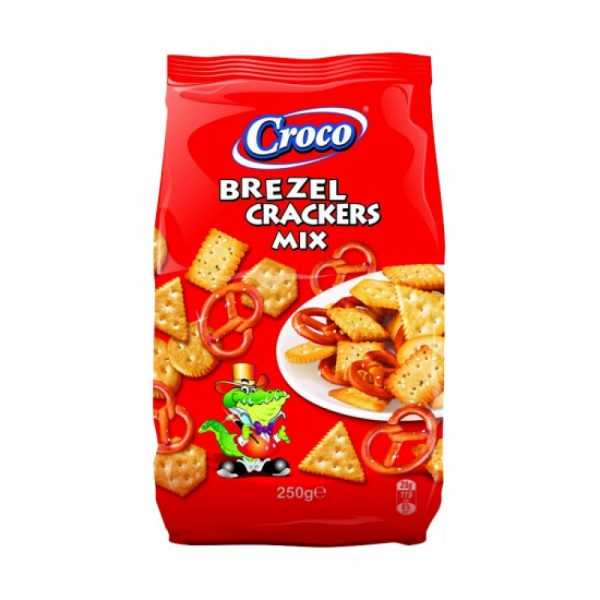 Croco Brezel Crackers Mix 250G 428313-V001 by Croco