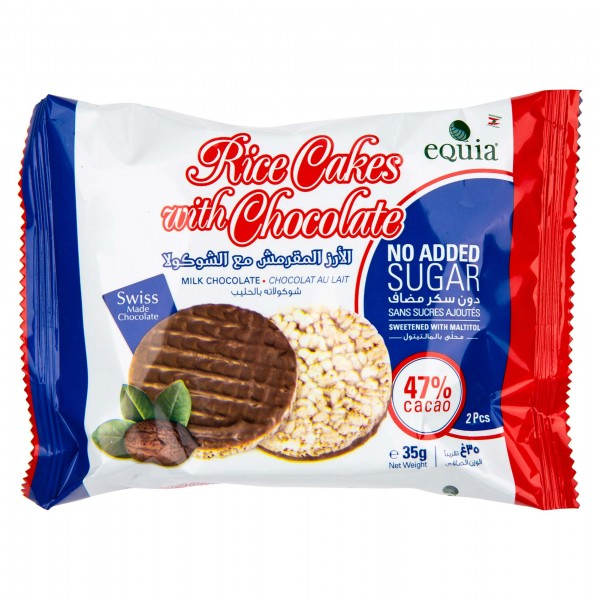 Equia Rice Cakes With Chocolate 2 Pieces 430867-V001 by Equia