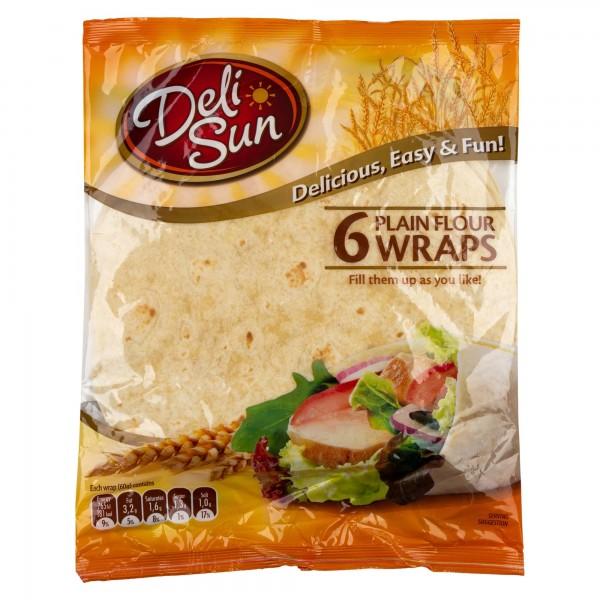 Deli Sun Plain Flour Tortilla 6 Wraps 360G 432524-V001 by Deli Sun