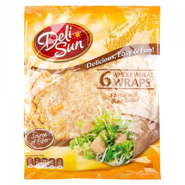 Deli Sun Whole Wheat Wraps 6 Pieces 360G 432526-V001 by Deli Sun
