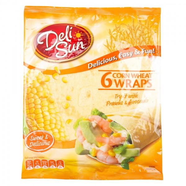 Deli Sun Corn Tortilla 6 Wraps 360G 432527-V001 by Deli Sun
