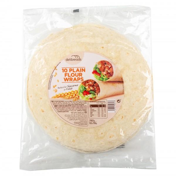 Deli Sun Plain Soft Tortillas 10 Wraps 780G 432532-V001 by Deli Sun