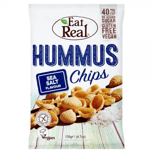 Eat Real Hummus Chips Sea Salt Flavored 135G 432677-V001 by Eat Real