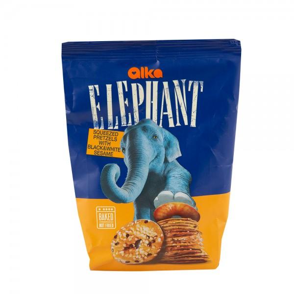 Elephant Squeezed Pretzels With Sesame 80G 433446-V001 by Elephant
