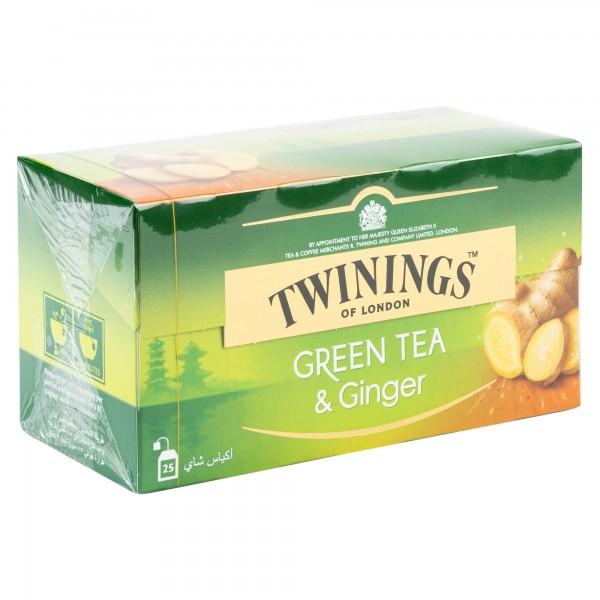 Twinings Green Tea Ginger 25 Sachets 434189-V001