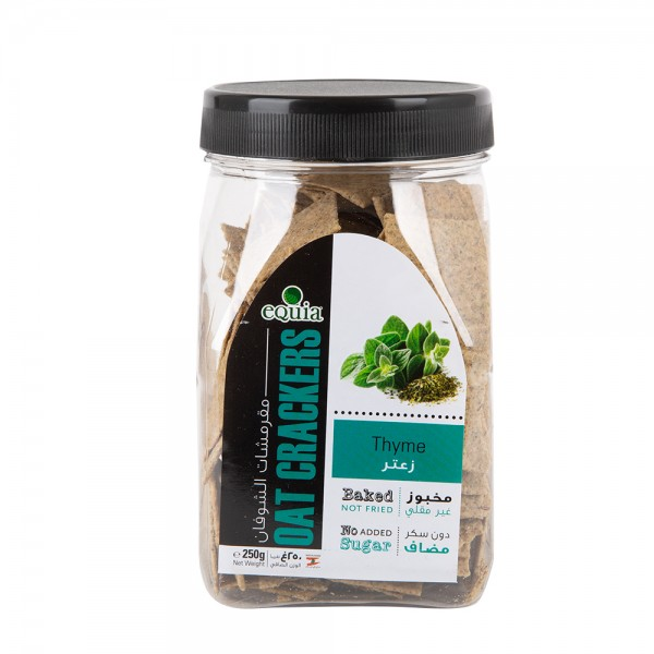 Equia Baked Oat Crackers With Thyme 200G 434232-V001
