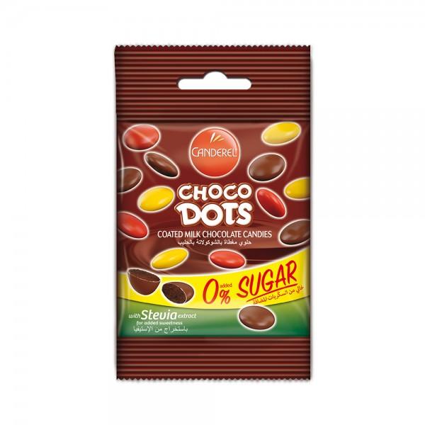 CANDEREL 0% added sugar Milk Chocolate Dots 40G 434665-V001 by Canderel