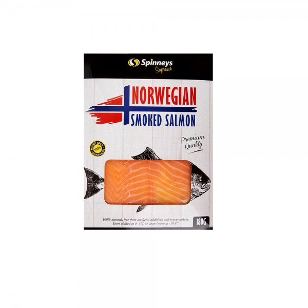 Spinneys Norwegian Smoked Salmon 180G 436289-V001 by Spinneys Supreme