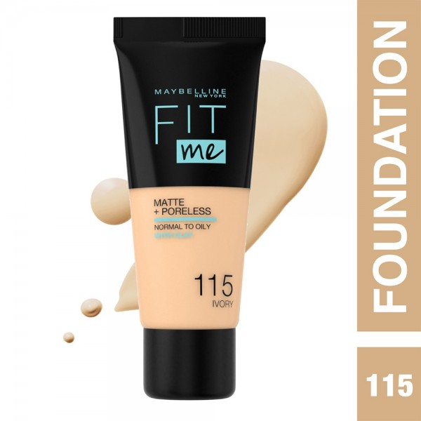 Maybelline Fit Me Fdt 115 Ivory - 1Pc 437255-V001 by Maybelline