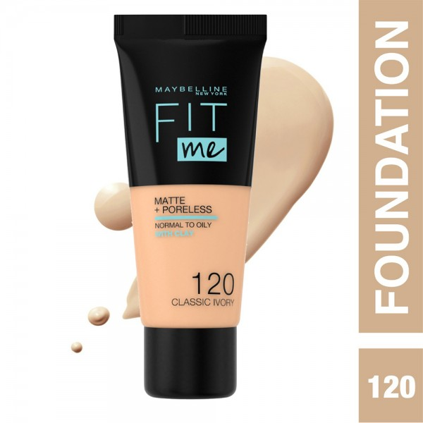 Maybelline Fit Me Fdt 120 Classic Ivor - 1Pc 437256-V001 by Maybelline