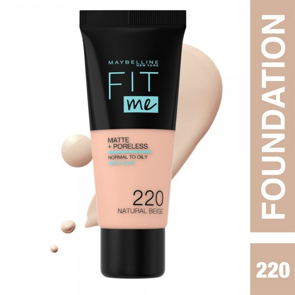 Maybelline Fit Me Fdt 220 Nat Beige - 1Pc 437258-V001 by Maybelline