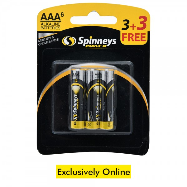 Spinneys Battery Aaa 3+3 Free - 6'S 438861-V001 by Spinneys Home