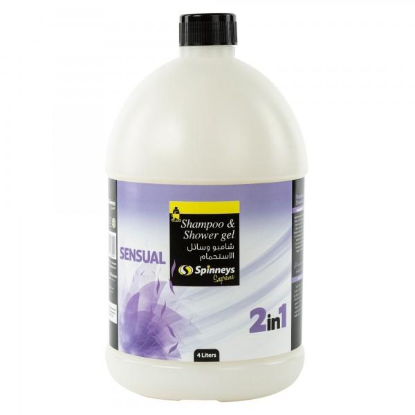 Spinneys Shampoo & Shower Gel 2 In 1 Sensual 4L 439166-V001 by Spinneys Essentials
