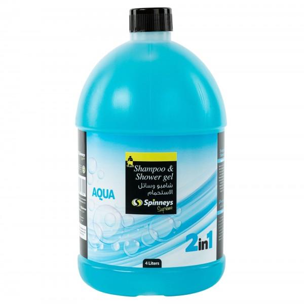 Spinneys Shampoo & Shower Gel 2 In 1 Aqua 4L 439167-V001 by Spinneys Supreme