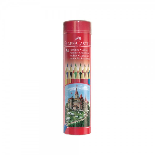 Faber C Coloring Pencil in Metal  Tube 24pc 439207-V001 by Faber Castell