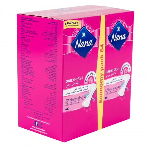 Nana Daily Fresh Pantyliners Multi-Style Normal 64's 439278-V001 by Nana