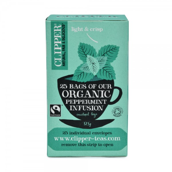 Clipper Herbal Infusions Organic Peppermint 25 Bags 439581-V001 by Clipper