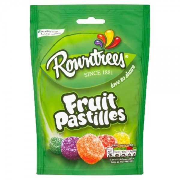 Rowntree Fruit Pastilles Pouch 150G 439630-V001 by Nestle