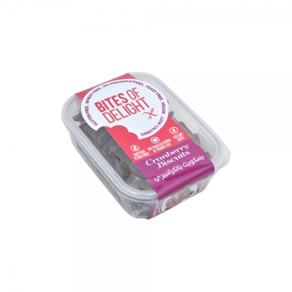 Bites of Delight Cranberry Biscuits 120g 440225-V001 by Bites of Delight