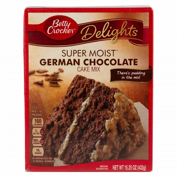 Betty Crocker Delights Super Moist German Chocolate Cake Mix 15.25Oz 441260-V001 by Betty Crocker