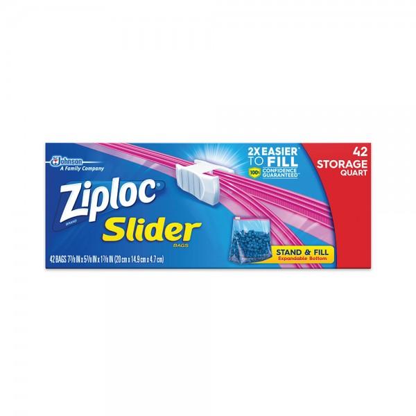 Ziploc Qrt Storage Bags Slide Lock Quart - 20Pc 441442-V001 by Ziploc