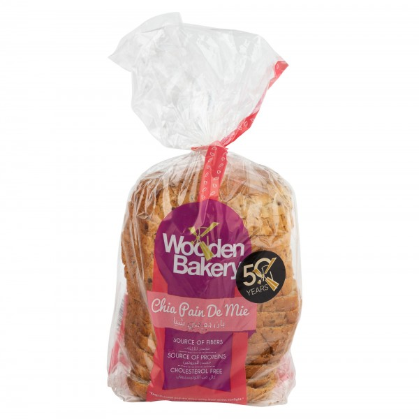 Wooden Bakery Chia Pain De Mie 400G 442138-V001 by Wooden Bakery