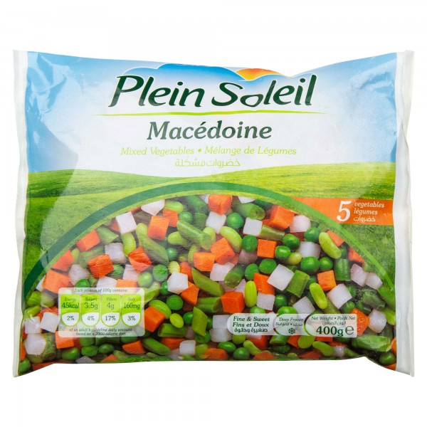 Plein Soleil Mac?ine (Mixed Vegetables) Frozen 400G 442141-V001 by Plein Soleil