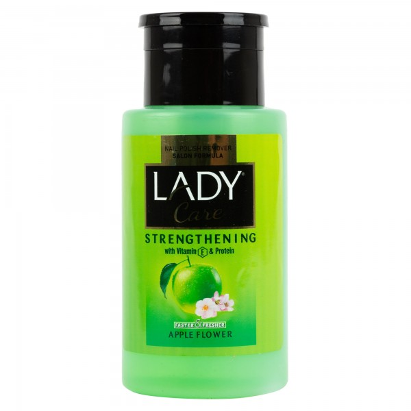Lady Care Nail Polish Remover Salon Formula Pump Bottle With Apple Flower Fragrance 210ml 442393-V001 by Lady Care