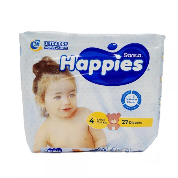 BABY DIAPERS REGULAR LARGE 8-14KG SIZE 4 451469-V001 by Sanita