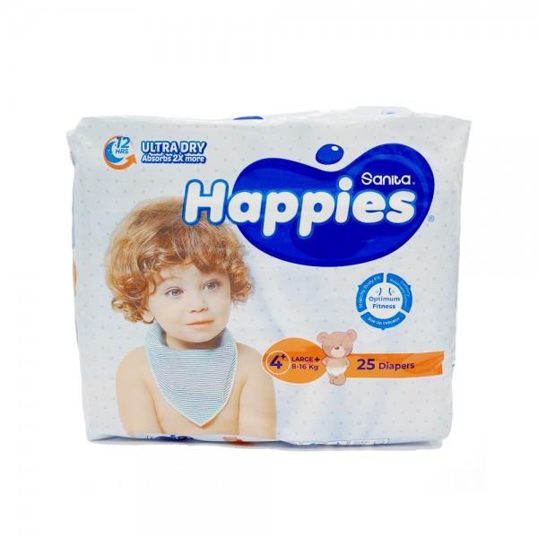 BABY DIAPERS REGULAR LARGE PLUS 10-16KG SIZE 4+ 451470-V001 by Sanita