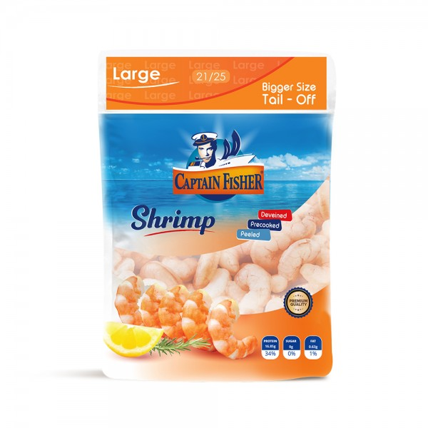 Captain Fisher Shrimp Cooked Large 21.25 Pd T.Off 451557-V001 by Captain Fisher