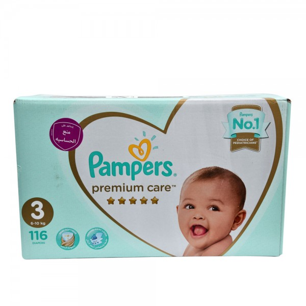 Pampers Premium Care Size 3 6-10 Kg 116 Diapers 451778-V001 by Pampers