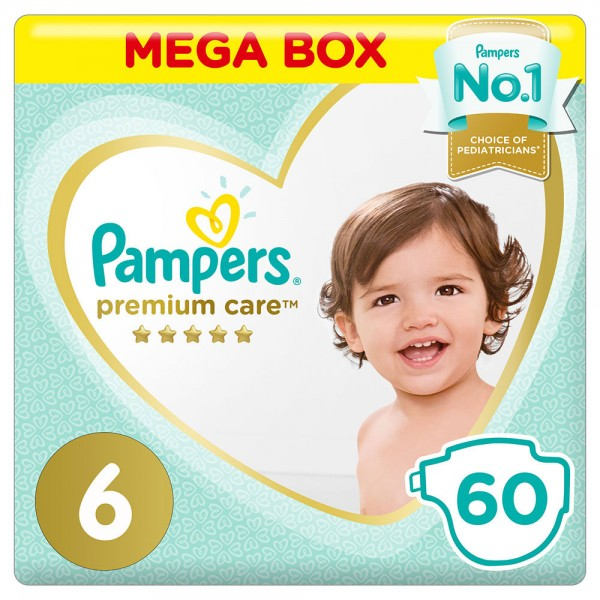 Pampers Premium Mega Box Size 6 60 Diapers 451797-V001 by Pampers