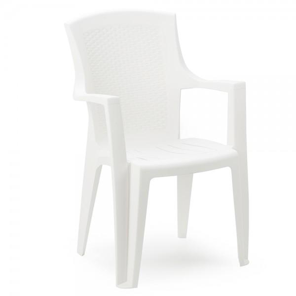 Pro-Garden Eden Ratan Chair  White - 60X62 452318-V001 by Pro Garden Collection