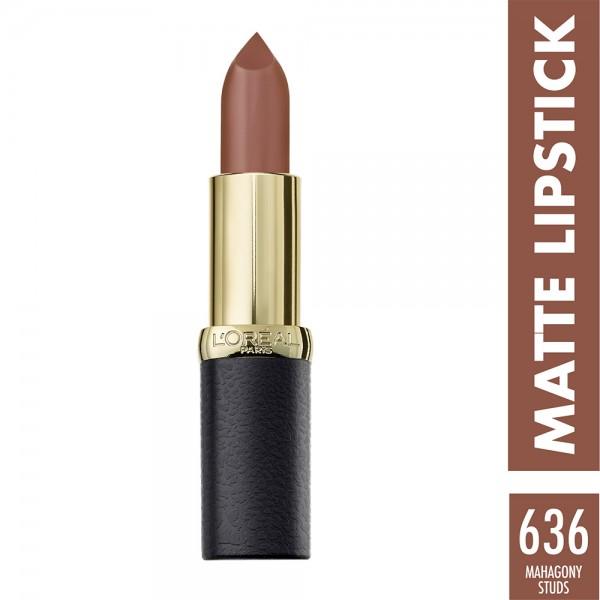 L'Oréal Paris - Color Riche Lipstick Matte 636 Mahogany Studs 452863-V001 by L'oreal
