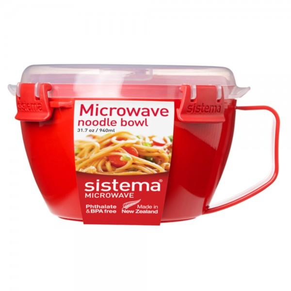 Sistema Microwave Noodle Bowl Red Color 940ml 455101-V001 by Sistema
