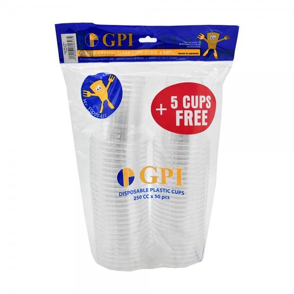 Gpi Crystal Cups 250Cc - 50+5 457477-V001 by Gpi